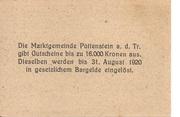 20 Heller (Pottenstein) – reverse