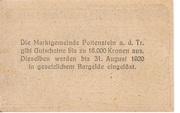 50 Heller (Pottenstein) – reverse