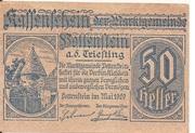 50 Heller (Pottenstein) – obverse