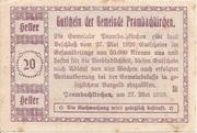20 Heller (Prambachkirchen) -  reverse