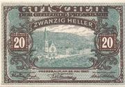 20 Heller (Pressbaum) – obverse