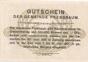 20 Heller (Pressbaum) – reverse