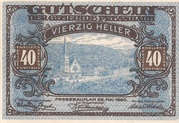 40 Heller (Pressbaum) – obverse