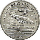 "5 Dollars - Leonard I (U.S. F4-G Phantom ""Wild Weasel"" Jet Fighter) – reverse"