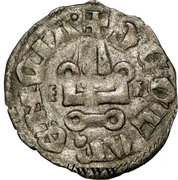 1 Denier - Philippe Ier de Tarente (1307-1313 – reverse