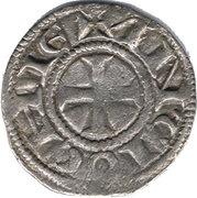 Denier - Raymond de Poitiers (Long neck) -  reverse