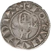 Denier à la Tête Casqué Classe A Bohemond III Majorité – obverse