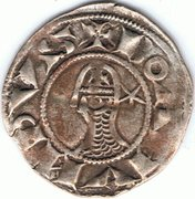 Denier à la Tête Casquée Classe C Bohemond III Majorité – obverse