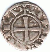 Denier à la Tête Casquée Classe F Bohemond III Majorité -  reverse
