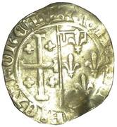Sol coronat Louis II d'Anjou – reverse