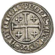 ½ Gros - Jeanne de Naples and Louis de Tarante – reverse