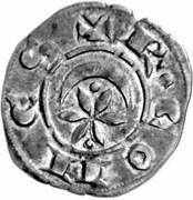 Denier ou Raimondin de Raymond VI-Marquisat de Provence. – obverse