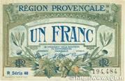 1 franc - Région provençale – obverse