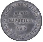 10 Centimes (Provence Region) – obverse