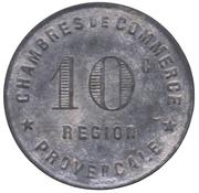 10 Centimes (Provence Region) – reverse