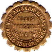 10 Centimes (Provisional Regions) – obverse