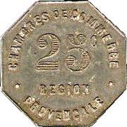 25 Centimes (Provincial Regions) – reverse