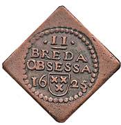 2 Stuivers - Siege of Breda – obverse