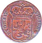 1 Duit (Small bust of stadtholder Willem V) – obverse