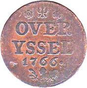 1 Duit (Small bust of stadtholder Willem V) – reverse