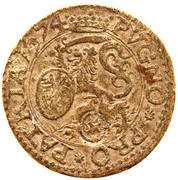 ¼ Gulden (Siege of Leiden) – obverse