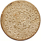 1 Gulden (Siege of Leiden) – reverse