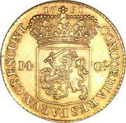 """14 Gulden """"Gouden rijder"""" – reverse"""