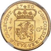 """7 Gulden """"Halve gouden rijder"""" – obverse"""