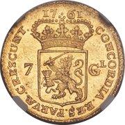 7 Gulden (Groningen & Ommeland) – reverse