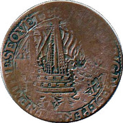 Token - The destruction of the Spanish armada (Dordrecht) – reverse