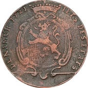 Token - Adrien-Gérard, count of Lannoy De Clervaux, Governor of Namur – obverse
