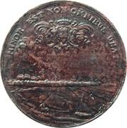 Medal - Annexation of Leiden harbour – reverse