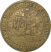 Medal - Capture of the Spanish galleon San Iago – reverse