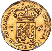 """7 Gulden """"Halve gouden rijder"""" – reverse"""