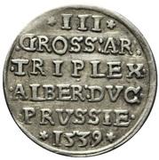 3 Gröscher - Albrecht von Hohenzollern – reverse