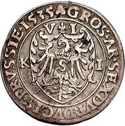 6 Gröscher - Albrecht von Hohenzollern – rev