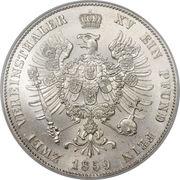 2 Vereinsthaler - Friedrich Wilhelm IV – reverse