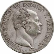 """1 Thaler - Friedrich Wilhelm IV (""""Mining Thaler"""") – obverse"""