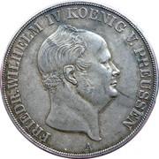 2 Thaler / 3½ Gulden - Friedrich Wilhelm IV – obverse