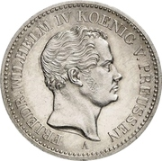 1 Thaler - Friedrich Wilhelm IV. (Mining Thaler) – obverse