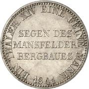 1 Thaler - Friedrich Wilhelm IV. (Mining Thaler) – reverse