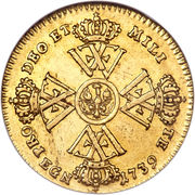 ½ Wilhelm d'Or - Friedrich Wilhelm I. – reverse