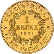 1 Krone - Wilhelm I. – reverse