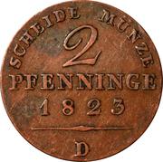 2 Pfenninge - Friedrich Wilhelm III – reverse