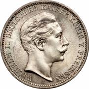 3 Mark - Wilhelm II – obverse