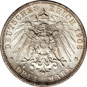 3 Mark - Wilhelm II – reverse