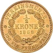 ½ Krone - Wilhelm I. – reverse