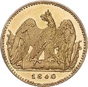 1 Friedrich d'Or - Friedrich Wilhelm III – reverse