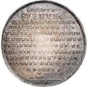 ½ Thaler - Friedrich Wilhelm I – reverse