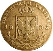 ⅓ Reichsthaler - Friedrich Wilhelm III – reverse